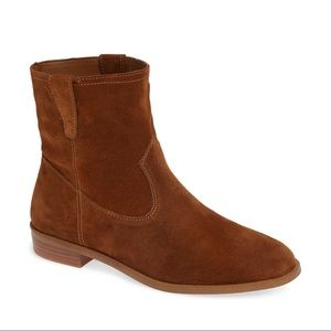 Rebecca Minkoff Chasidy Suede Booties Brown 9.5